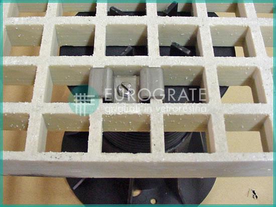 Rejilla de fibra de vidrio con pie de apoyo
