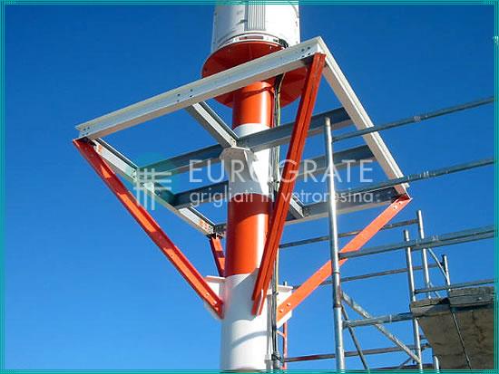 estructura de rejilla utilizada para los radares de un aeropuerto
