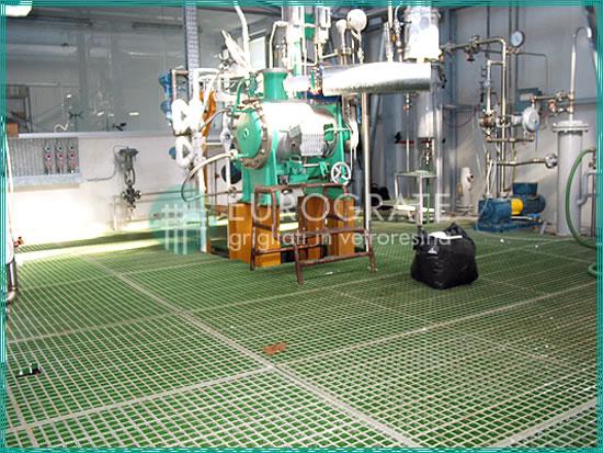 suelos de rejilla utilizados en instalaciones papeleras