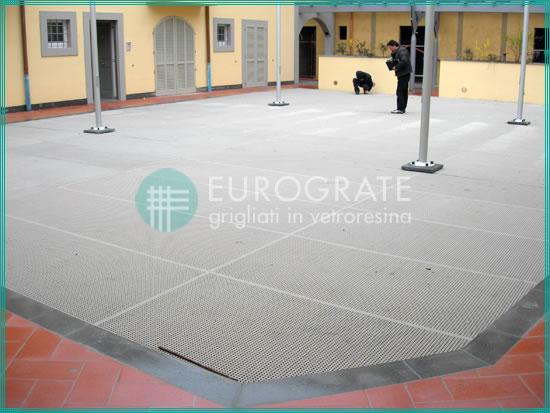 suelos de rejilla de PRFV