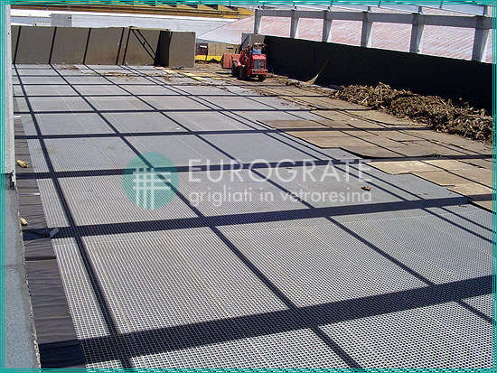 pavimento de rejilla para una nueva planta depuradora