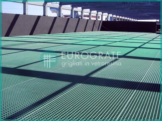 pavimento de rejilla para la industria de la depuración