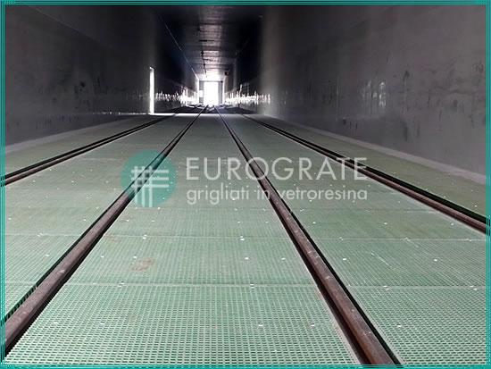 suelo de rejilla utilizado en la industria ferroviaria por su resistencia mecánica