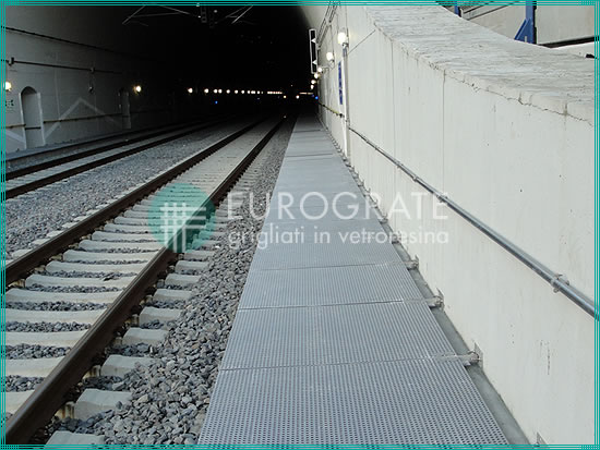 cubre zanjas y pasarelas de rejilla utilizadas en el sector ferroviario