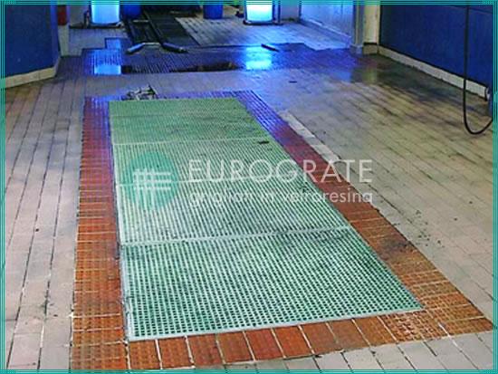suelos de rejilla de PRFV utilizados en la industria