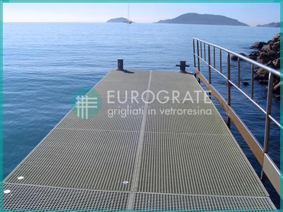 rejillas de PRFV resistentes a la corrosión en el sector marítimo