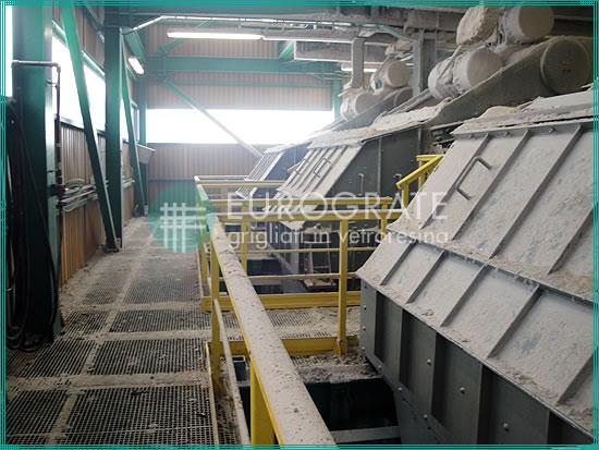 rejillas de fibra de vidrio para la protección de los trabajadores en la industria minera