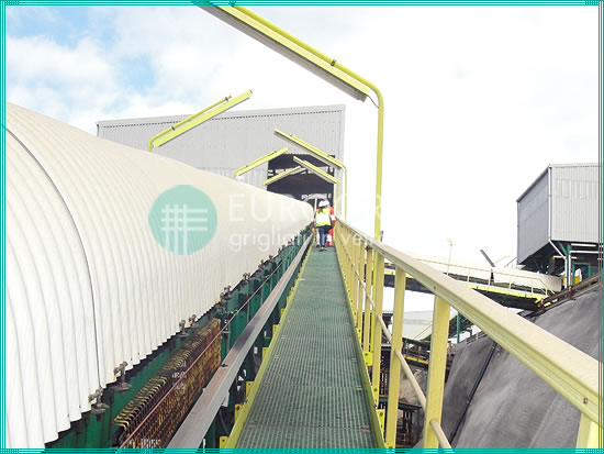 pasarelas de rejilla y barandillas de seguridad de PRFV para la industria extractiva
