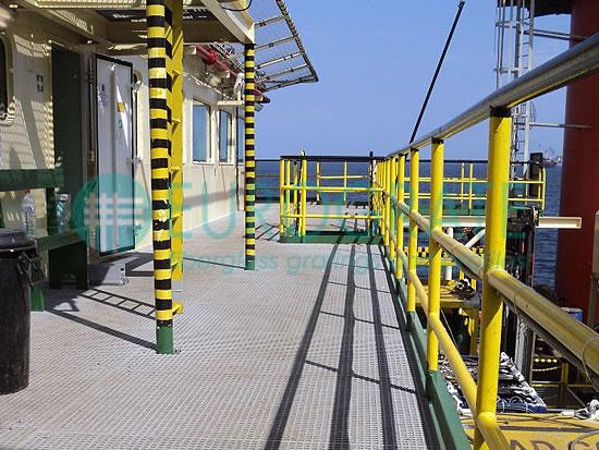 rejillas y barandillas de seguridad para el sector de alta mar