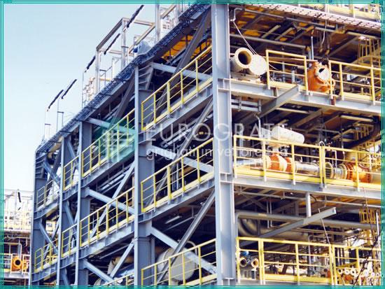 estructuras autoportantes y barandillas de seguridad utilizadas en la industria petrolera y del gas