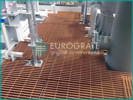 suelos de rejilla para la seguridad de los trabajadores de las instalaciones de petróleo y gas