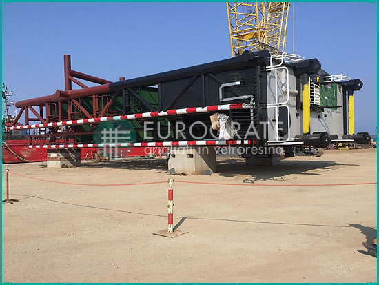 estructuras autoportantes para la construcción de una plataforma petrolera