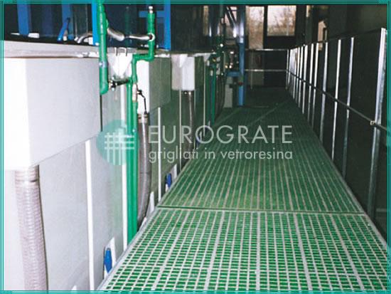rejillas vallados para el sector del tratamiento de superficies en la industria de la galvanización
