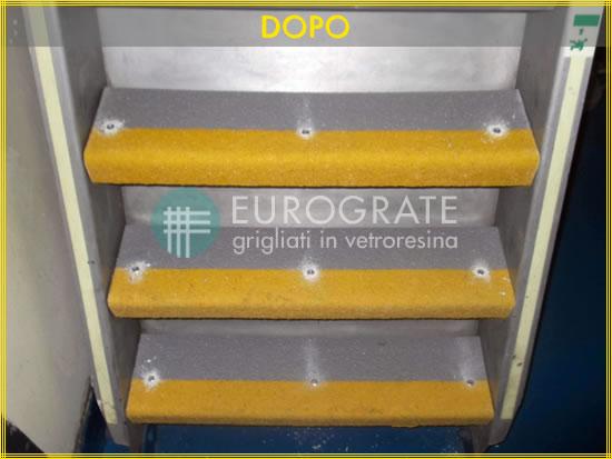 Resultado posterior con los cubre peldaños de Eurograte