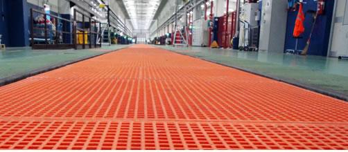 rejillas de PRFV y productos de fibra de vidrio para uso industrial y civil