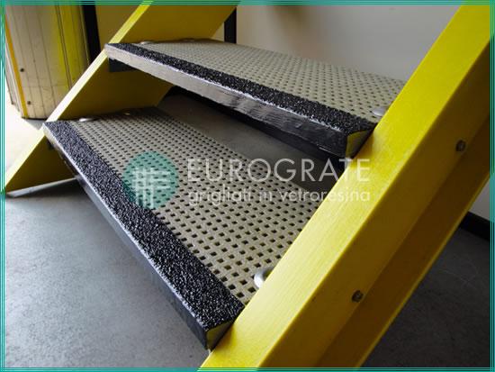 Escalones de PRFV de escaleras industriales