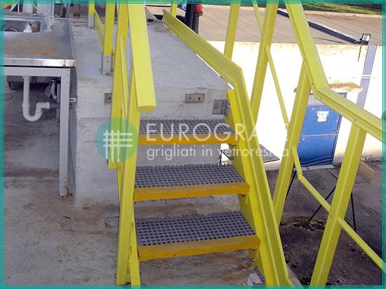 Escalones de rejilla para el acceso a instalaciones de energía eléctrica