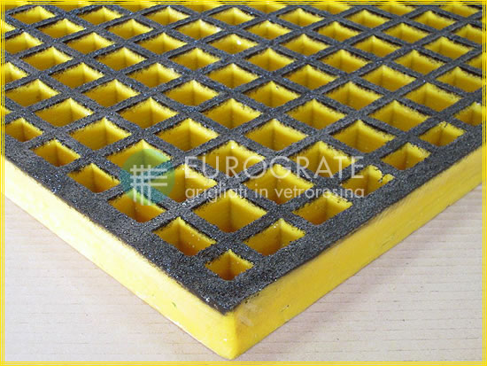 Malla de las rejillas ATEX con color de seguridad amarillo y negro
