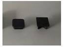 Barandillas de seguridad tapón perfil cuadrado