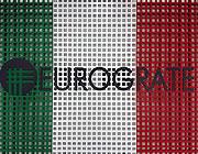 Eurograte Rejillas con los colores de la bandera italiana