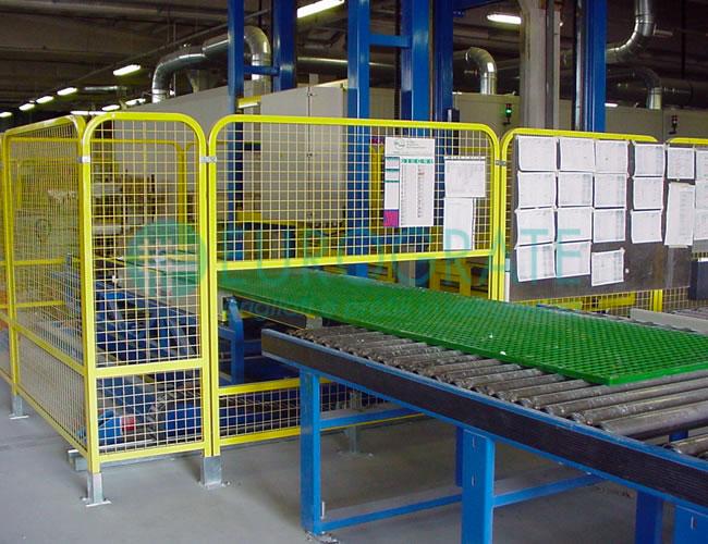 control de calidad de la producción de barandillas de seguridad