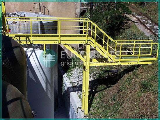 instalación de vallados industriales, rejillas y escaleras de gato en el establecimiento del cliente