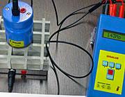 Rejillas sometidas a pruebas con instrumentos de medición