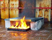 Rejillas sometidas a pruebas de integridad al fuego<